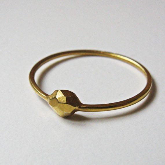 Ring Facetten Gold