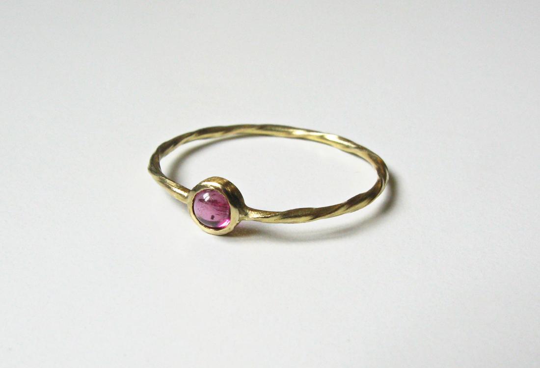 Ring Twist Turmaline rosa